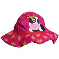 Girls Novelty Cow Character Flower Floppy Summer Sun Hat Cap Red 2-6yrs 6-23mnth