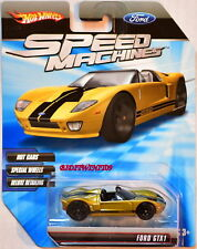 HOT WHEELS SPEED MACHINES FORD GTX1 GOLD W+