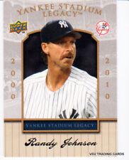 2008 Upper Deck Yankee Stadium Legacy RARE WHITE Card #97, RANDY JOHNSON, HOFr ^