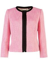 TED BAKER pink black boucle tailored smart jacket blazer work wedding asos 1 8