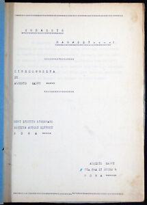 soggetto cinematografico CORAGGIO RAGAZZI...! di Alberto Salvi