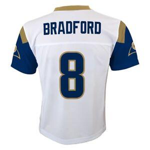 Sam Bradford NFL Los Angeles Rams Mid Tier White Away Jersey Boys (4-7)