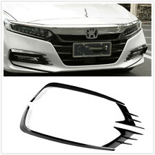 Front Fog Light Lamp Eyebrow Cover Trim For 2018 Honda Accord 4pcs Black ABS