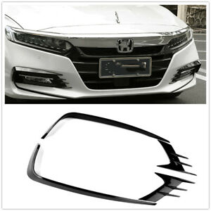 Front Fog Light Lamp Eyebrow Cover Trim For 2018 Honda Accord 4pcs Black ABS