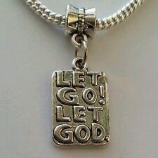 Christian Religious Let Go Let God Dangle Bead For European Charm Bracelet