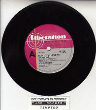 "JOE COCKER  Don't You Love Me Any More  7"" 45 rpm record + juke box title strip"