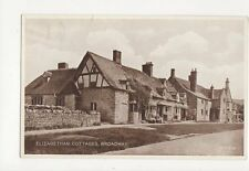 Elizabethan Cottages Broadway Vintage Postcard 048a
