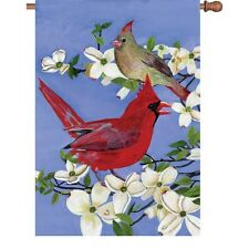 "Cardinals and Dogwood (28"" x 40"" Approx ) House Size Flag Pr 52344"