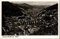 Wolfach Schwarzwald alte Postkarte 1953 datiert Gesamtansicht Berge ungelaufen