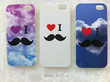 I LOVE MOUSTACHE Galaxy/Cloud Space/Sky Printed iPhone 5 5s Case iPhone 5 Case