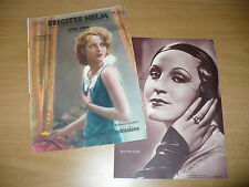 CINEMA ILLUSTRAZIONE BRIGITTE HELM NUMERO MONOGRAFICO N.2 1933 VITA FILMS FOTO