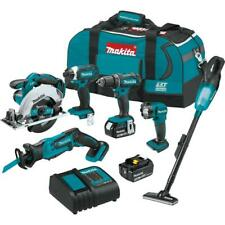 Makita 18-Volt Lithium-Ion Cordless 6-Piece Combo Kit, 3.0Ah  XT614SX1