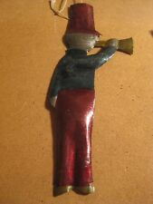 Mexico Mexican Tin Metal Christmas Holiday Ornament Musician Bugler Soldier