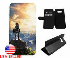 Zelda Link iPhone Galaxy J7 S8 S9 Note8 LG Leather Wallet Flip Stand Phone case