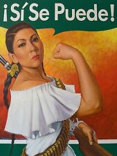 INTERNATIONAL WOMEN'S DAY POSTER CALLED SI SE PUEDE / WE CAN DO IT PRINT 12X16