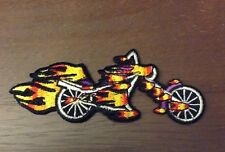 "Flaming Chopper biker patch              1 5/8"" x 4"""