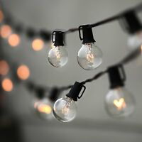String Lights, Lampat 25Ft G40 Globe String Lights with Bulbs-UL Listd for