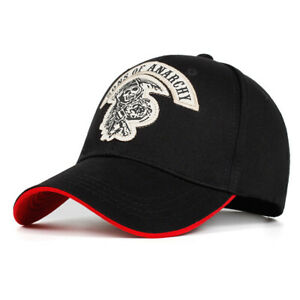 Sons of Anarchy Embroidery Baseball Cap Mens Punk Motorcycle Snapback Sports Hat