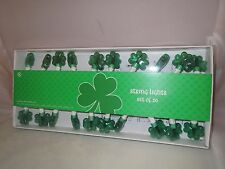 MINI GREEN SHAMROCKS ELECTRIC STRING LIGHTS- IRISH St. Patrick's Day Party NEW