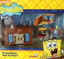 SPONGEBOB SQUAREPANTS MINI Figura Playset-KRUSTY KRAB House Burger SHOP