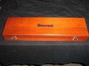 micrometer starrett Athol,USA wood box case for 696 crank balance indicator new!