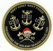CPO CHIEF Holiday Season XMAS Christmas Deckplate Warrior US Navy Challenge Coin
