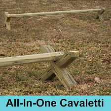 All-In-One Wood Cavaletti Single Horse Jumps - A Must Have Horse Training Aid