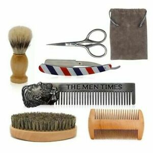 Shaving Set Mens Beard Grooming Kit With Shaving Razor Metal Comb brush