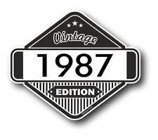 Vintage Edición 1987 Vinilo Estilo Clásico Retro Cafe Racer Motocicleta Pegatina de Coche