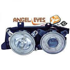 RHD LHD Faros Proyectores Par Angel Eyes Transparente Cromado BMW E32 86-94
