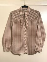 VINTAGE COUNTRY SOPHISTICATES Women's Western Blouse Long Sleeves w/Matching Tie