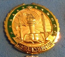 NEW U.S.ARMY INSTRUCTOR BADGE, MASTER INSTRUCTOR, FULL SIZE,CLUTCH BACK