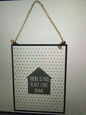 """there is no place like home"" hanging glass sign Cute/quirky/homeware/decor"