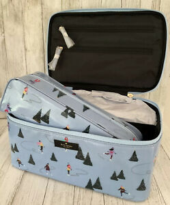 KATE SPADE NWT LARGE COLIN DAYCATION SKATERS TRAVEL CASE BAG COSMETIC 2 PIECE