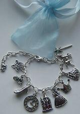 Cinderella Theme Charm Bracelet Party Bag Filler Birthday Gift Favour Jewelry