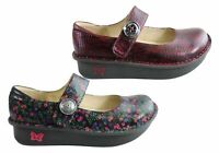 Brand New Alegria Paloma Womens Comfort Leather Mary Jane Shoes