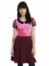Cartoon Network Steven Universe Garnet Dress Cosplay Fit & Flare Juniors SMALL
