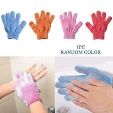 2Pcs Shower Bath Gloves Exfoliating Wash Skin Spa Massage Body Gloves Scrub P7P9