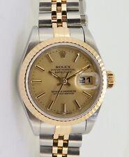 .Vintage 1996 Rolex Datejust Ladies Steel & Gold Wrist 69173 Watch Box+Serviced