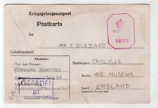 GERMANY: 1944 Censored Kriegsgefangenenpost postcard to England (C48611)