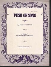 Northwestern Push On Song 1915 - Football Sheet Music