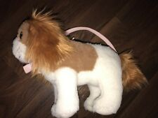 H&M Stofftier Kuscheltier Plüschtier Hund braun Weiß Tasche Rosa Schleife Henkel