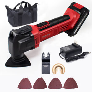 20V Max Cordless Oscillating Tool Kit Variable Speed w/ Bag Battery Accessories