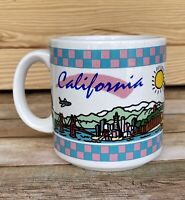 Vintage 80s California Checker Print Mug -Corey Strongin Design-