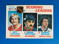 Guy Lafleur 1978-79 #65 Scoring Leader O-Pee-Chee Hockey Card Montreal Canadiens