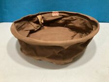Vintage Abercrombie & Fitch Collapsible Canvas Camping Wash Basin Circa 1910