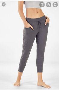 Fabletics Maj Tricot Pant/Jogger With Pockets, Dark Gray Size Medium