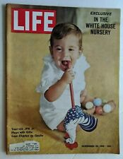 NOVEMBER 24 1961 LIFE MAGAZINE JFK JR FASHION THE TWIST JACQUELINE KENNEDY