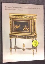 European Furniture in the Metropolitan Museum of Art Antique Furniture ...