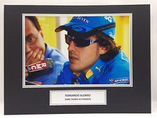 Rara Fernando Alonso Renault F1 pantalla FOTO FIRMADA + CERTIFICADO DE AUTENTICIDAD autógrafo